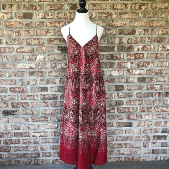 GAP Dresses & Skirts - Gap 100% Cotton Smocked Back BOHO Maxi Dress 14